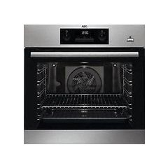 Aeg BPK351021M Aeg Built In Pyrolytic Single Oven With Steam Bake Function In Stainless Steel