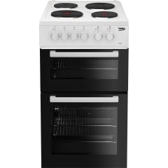 Beko AD531AW Beko Ad531aw 50Cm Electric Cooker With Solid Plate Hob - White - A Rated