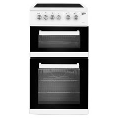 Beko ADC5422AW 50Cm Electric Cooker With Ceramic Hob - White - A Rated