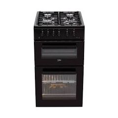 Beko ADVG592K Beko 50Cm Gas Cooker With Full Width Gas Grill - Black - A+/A Rated
