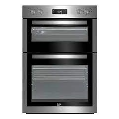 Beko BDF26300X Built In Electric Double Oven - Stainless Steel