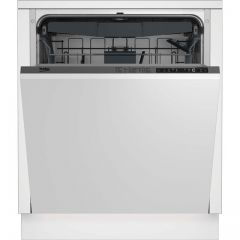 Beko DIN28R22 Beko Din28r22 Fully Integrated Standard Dishwasher - Silver Control Panel With Fixed D