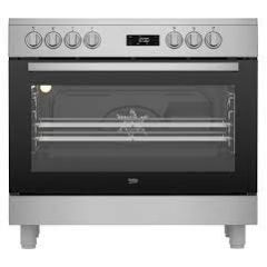 Beko GF17300GXNS Beko Gf17300gxns 90Cm Electric Range Cooker With Ceramic Hob - Stainless Steel