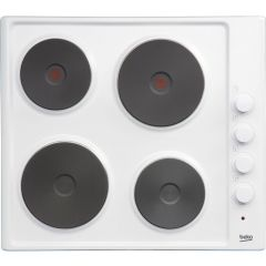 Beko HIZE64101W 60cm Solid Electric Hob In White