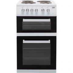 Beko KD532AW Beko Kd532aw 50Cm Electric Cooker With Solid Plate Hob - White - A Rated