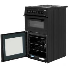 Beko KD533AK Beko Kd533ak 50Cm Electric Cooker With Solid Plate Hob - Black - A Rated