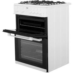 Beko KDG611W 60Cm Gas Cooker With Full Width Gas Grill A+/A Rated