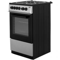 Beko KS530S Beko Ks530s 50Cm Electric Cooker With Solid Plate Hob - Silver - A Rated