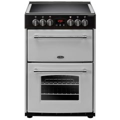 Belling 444410789 Belling Farmhouse60e 60Cm Electric Cooker With Ceramic Hob - Silver - A/A Rated