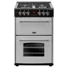 Belling 444410790 Belling Farmhouse60df 60Cm Dual Fuel Cooker - Silver - A/A Rated