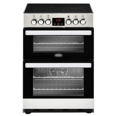 Belling 444410819 Belling Cookcentre 60E Electric Cooker With Ceramic Hob - Stainless Steel - A/A Ra