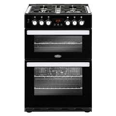 Belling 444410821 Belling Cookcentre 60Df Dual Fuel Cooker - Black - A/A Rated