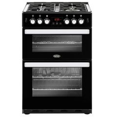 Belling 444410824 Belling Cookcentre 60G Gas Cooker With Full Width Electric Grill - Black - A+/A Ra