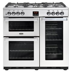 Belling 444444069 Belling Cookcentre90dftprof 90Cm Dual Fuel Range Cooker - Stainless Steel - A/A Ra