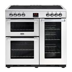 Belling 444444072 Belling Cookcentre90eprof 90Cm Electric Range Cooker With Ceramic Hob - Stainless