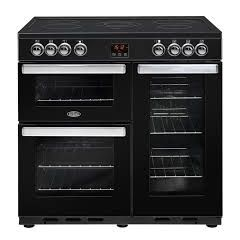 Belling 444444074 Belling Cookcentre90e 90Cm Electric Range Cooker With Ceramic Hob - Black - A/A Ra