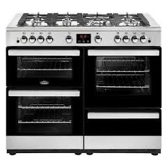 Belling COOK90GSS 444444076 Belling Cookcentre90g 90Cm Gas Range Cooker With Electric Fan Oven - Sta