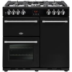 Belling 444444121 Belling Farmhouse90dft 90Cm Dual Fuel Range Cooker - Black - A/A Rated