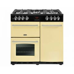 Belling 444444123 Belling Farmhouse90dft 90Cm Dual Fuel Range Cooker - Cream - A/A Rated