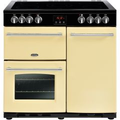 Belling 444444126 Belling Farmhouse90e 90Cm Electric Range Cooker With Ceramic Hob - Cream - A/A Rat