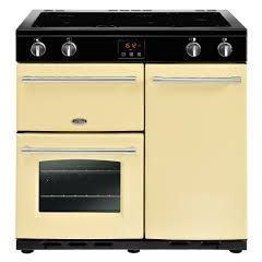 Belling 444444132 Belling Farmhouse90ei 90Cm Electric Range Cooker With Induction Hob - Cream - A/A
