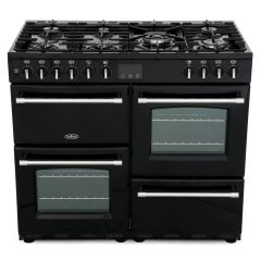 Belling 444444133 Belling Farmhouse110df 110Cm Dual Fuel Range Cooker - Black - A/A Rated