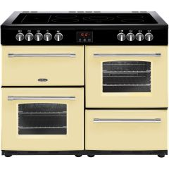 Belling 444444138 Belling Farmhouse100e 100Cm Electric Range Cooker With Ceramic Hob - Cream - A/A R