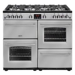 Belling FARM100GSTA 444444140 Belling Farmhouse100g 100Cm Gas Range Cooker - Silver - A/A Rated