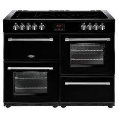 Belling 444444148 Belling Farmhouse110e 110Cm Electric Range Cooker With Ceramic Hob - Black - A/A R