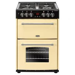 Belling 444444713 Belling Farmhouse60df 60Cm Dual Fuel Cooker - Cream - A/A Rated