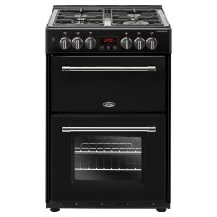 Belling 444444714 Belling Farmhouse60df 60Cm Dual Fuel Cooker - Black - A/A Rated