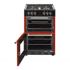 Belling 444444715 Belling Farmhouse60df 60Cm Dual Fuel Cooker - Hot Jalapeno - A/A Rated