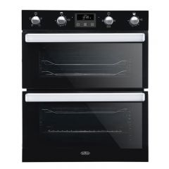Belling BI702FPBK 444444782 Belling Built Under Double Oven In Black