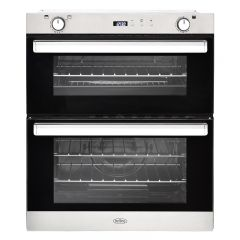 Belling BI702GSS 444444793 Gas Built Under Double Oven With Electric Grill In Stainless