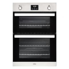 Belling BI902GSS 444444795 Belling Double Built In Gas Oven In Stainless Steel