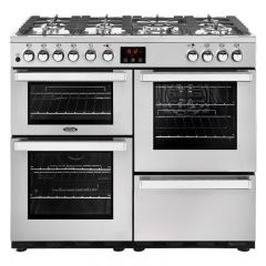 Belling COOK100DFTP/STA 444444081 Belling Cookcentre 100Cm Duel Fuel Range Cooker In Professional St