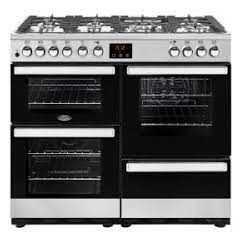 Belling COOK100DFTSTA 444444082 Cookcentre 100 Cm Dual Fuel Range Cooker Stainless Steel