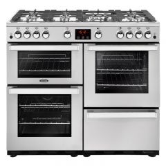 Belling COOK100GPROFSTA 444444087 Belling Cookcentre 100Cm Gas Range Cooker In Professional Stainles
