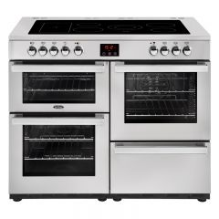 Belling COOK110EPROFSTA 444444096 Belling Cookcentre 110Cm Ceramic Range Cooker In Professional Stai