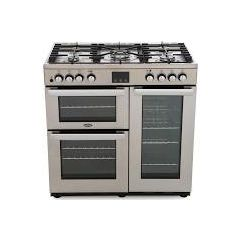 Belling COOK90DFTPROFST 444444069 Belling Cookcentre 90 Dual Fuel In Professional Stainless Steel
