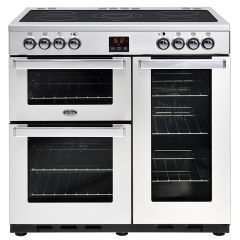 Belling COOK90EPROFSTA 444444072 Belling Cookcentre 90Cm Ceramic Range Cooker In Stainless Steel (44