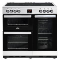 Belling COOK90ESS 444444073 Belling Cookcentre 90Cm Ceramic Rangecooker In Stainless Steel