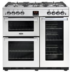 Belling COOK90GPROFSTA444444075 Belling Cookcentre 90Cm Gas Range Cooker In Professional Stainless S