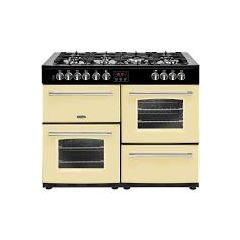 Belling FARM110DFTCRM 444444147 Belling Farmhouse 110Cm Dual Fuel Cooker In Cream