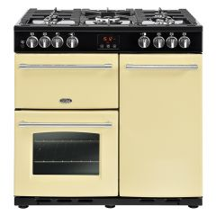 Belling FARM90DFTCRM 444444123 Belling Farmhouse 90Cm Duel Fuel Cooker In Cream