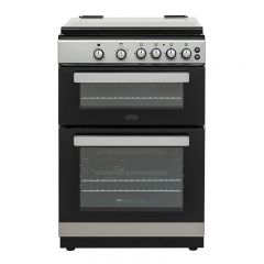 Belling FSG608DC SIL 444444806 Belling 60Cm Gas Double Oven Offers 4 Gas Burners In Silver