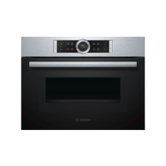 Bosch CMG633BS1B 45Cm Compact Oven With Microwave In Brushed Steel