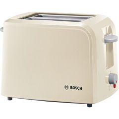 Bosch TAT3A017GB Compact 2 Slice Toaster In Cream