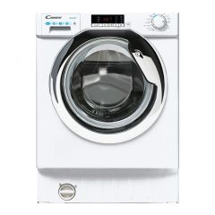 Candy CBD485D2CE Built In Washer Dryer Silver Door 8Kg Wash 5Kg Dry In White