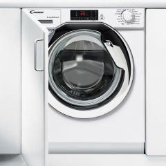 Candy CBWD8514DC Candy Built In 8Kg Wash 5Kg Dry Washer Dryer In White With Chrome Door